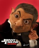 Johnny English Reborn Mr. Bean Caricature by whin