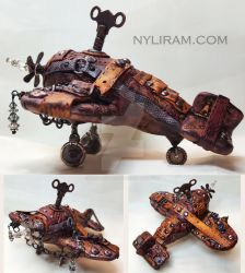 Steampunk Airplane by MarilynMorrison