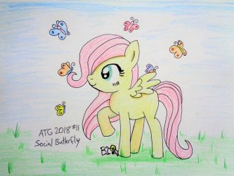 ATG 2018 Prompt 11: Social Butterfly by A-Bright-Idea