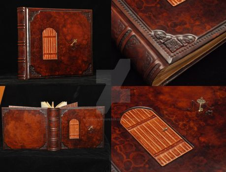 Custom photo album, bound in leather by TheBookWhisperer