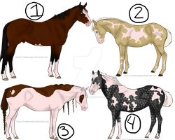 Patterned Horse Adopts-- 3/4 OPEN by jlryanhorses