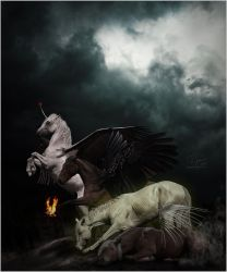 Four Horses of the Apocalypse by xxCHARLiE
