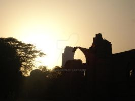 the sun set at the QM by jilpa