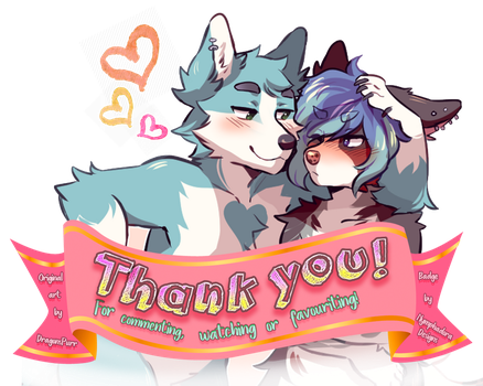 Thank You badge - DO NOT USE by NymphadoraDesigns