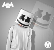 Marshmello Vexel Art by mfhart