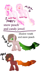 Snow Peach Foals by theliondemon-kaimra
