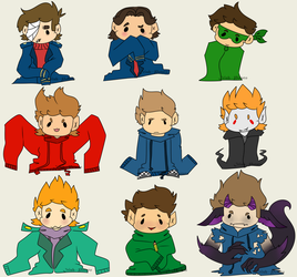 Eddsworld Characters by Irish--Potato