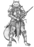 [COMMISSION] Melion - Wolven Paladin by s0ulafein