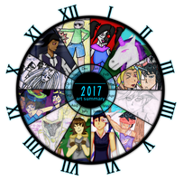 2017 Art Summary - The Year of MishMash of Things! by Cyber-Cypher