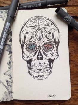 Sugar skull by macacotech