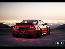 Nissan Skylinen R33 Pandem by blackdoggdesign
