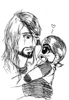 Seth Rollins and Sethie by Tapla