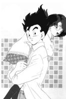 Gohan and Videl by lemonmarshmallow