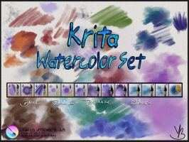 Krita Watercolor Set v1.01 by GrindGod