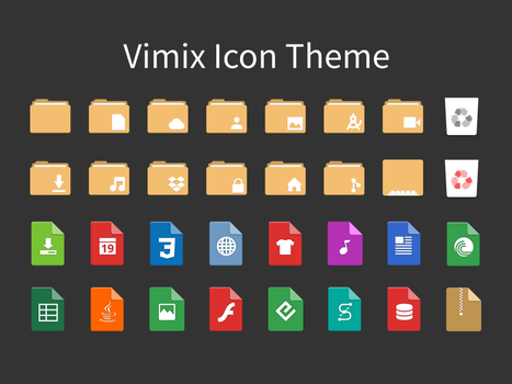 Vimix-icon-themes by vinceliuice