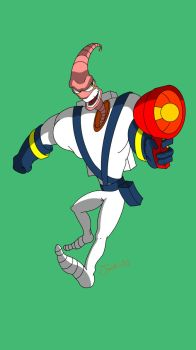 Earthworm Jim by Jack-AG