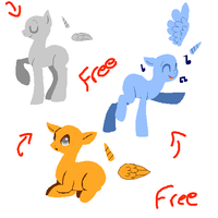 Free Lineless Pony Pixel Bases *READ DESCRIPTION** by guIIs