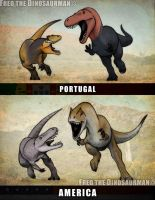 Turned Tables | Allosaurus vs Torvosaurus by FredtheDinosaurman