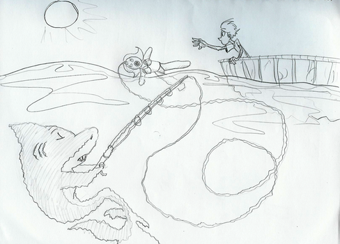 DaD - Fishing sketch by rockpopple