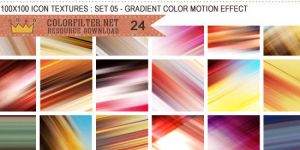 Icon Textures Set 05 - Color Motion Effect by colorfilter