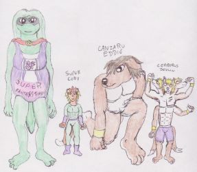 Super Fantastikah with others colour by WhippetWild