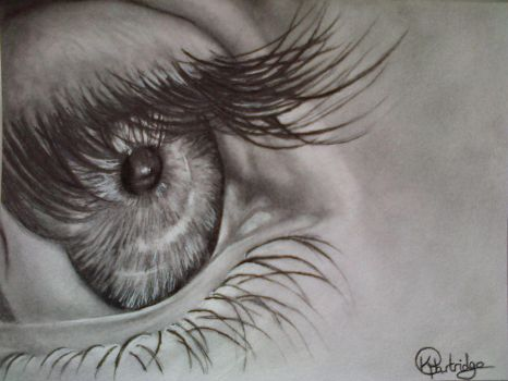 Pencil eye drawing by KirstyPartridgeART