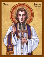St. John Vianney icon by Theophilia