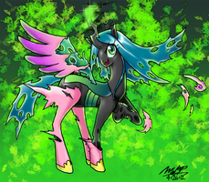 Queen Chrysalis: Shedding My Disguise by EvilMel