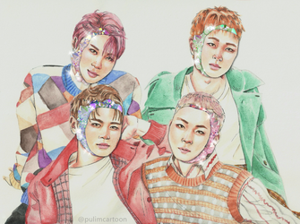 SHINee crystals by Pulimcartoon
