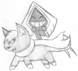 Arctpup+Snorunt for Toonime by Uchiha00006