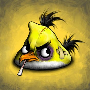 Yellow Angry Bird by Scooterek