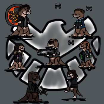 Agents of Shield Otters (Otters of Shield) by bulldog21
