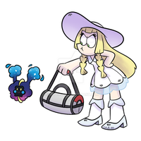Lillie and Cosmog (Pokemon Sun and Moon)