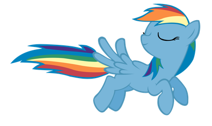 Flying Rainbow Dash by ShayminOnEarth