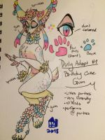 Daily Adopt #1 /Birthday Cake Gum/ KEEPING by humble-abode