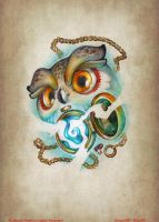 Time Owl - Tattoo sketch by FEDsART