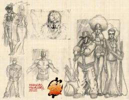 Juda Fist Concepts Sketches Feb 2012 by MarkCDudley