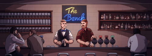 Commission: The Bench Podcast Banner by Furin94