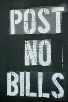 POST NO BILLS by amputated-heart