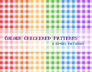 Colour Checkered Patterns by powerpuffjazz