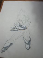Vegeta from Dragonball Z (I was 12) by VeriaLamour