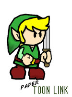 Paper Toon Link by TFWTH