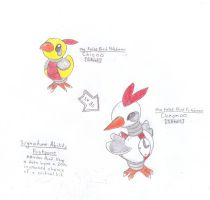 Fakemon Chicoo and Chronoo by Scrafty112