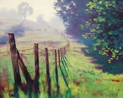 Misty Fence Line -Graham Gercken by artsaus