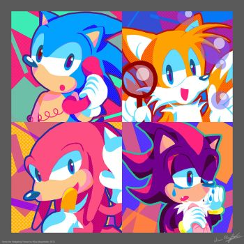 A Moment with Sonic and Friends by MissNeens