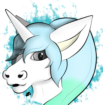 QuestionUnicorn Raffle headshot by SamTheMoose101 by QuestionUnicorn