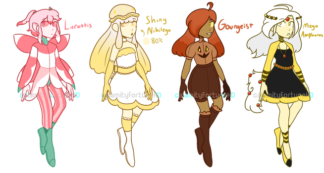 PKMN Gijinka Adopts [ $3 / 300pts| OPEN | 2/4 ] by CalamityFortuneHD