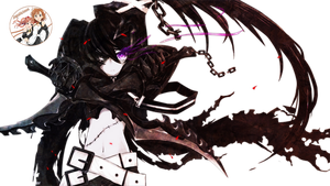 Black Rock Shooter Render by xJapalicious
