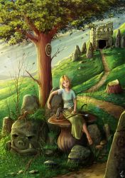 Resting in the Forest .::collab::. by GiovyLoCa
