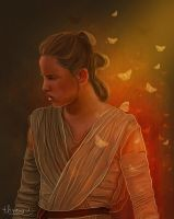 Rey awakens by thire-sia